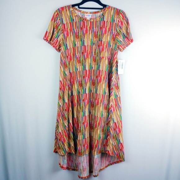 LuLaRoe Dresses & Skirts - LulaRoe Rainbow Carly Dress
